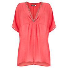 Buy Mint Velvet Beaded Kaftan, Pink Papaya Online at johnlewis.com