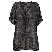 Buy Mint Velvet Lottie Print Beaded Kaftan, Multi Online at johnlewis.com