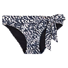 Buy Mint Velvet Lottie Print Tie Front Bikini Pants, Multi Online at johnlewis.com