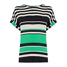 Buy Oasis Stripe Top, Green/Multi Online at johnlewis.com