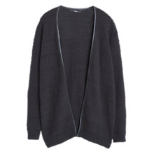 Buy Mango Cotton-Blend Cardigan, Black Online at johnlewis.com