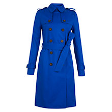 Buy Hobbs London Saskia Trench Coat, Bright Cobalt Online at johnlewis.com
