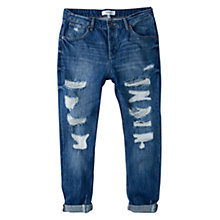 Buy Mango Boyfriend Angie Jeans, Open Blue Online at johnlewis.com