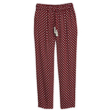 Buy Mango Flowy Printed Trousers, Dark Red Online at johnlewis.com