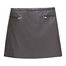 Buy Mango Decorative Zip Skirt, Green Online at johnlewis.com