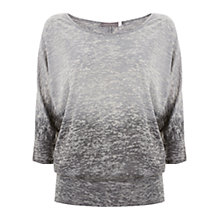Buy Mint Velvet Burnout Ombre Tee, Grey Online at johnlewis.com