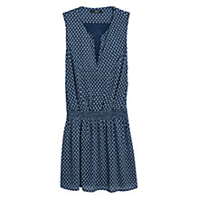 Buy Mango Flower Print Dress, Navy Online at johnlewis.com