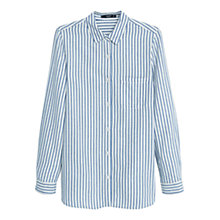 Buy Mango Striped Shirt, Light Pastel Blue Online at johnlewis.com