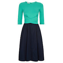 Buy Hobbs Jessica Dress, Spearmint Navy Online at johnlewis.com