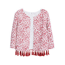 Buy Mango Printed Cotton Jacket, Medium Red Online at johnlewis.com