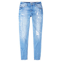Buy Mango Slim Fit Pol Jeans, Open Blue Online at johnlewis.com