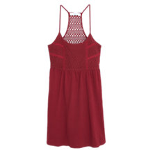 Buy Mango Embroidered Panel Dress, Dark Red Online at johnlewis.com