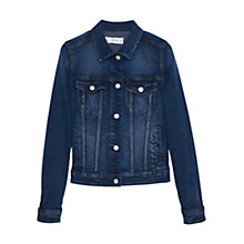 Buy Mango Dark Denim Jacket, Open Blue Online at johnlewis.com