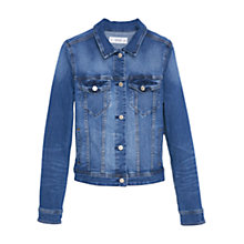 Buy Mango Medium Wash Denim Jacket, Open Blue Online at johnlewis.com