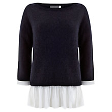 Buy Mint Velvet Peplum Knit Top, Multi Online at johnlewis.com