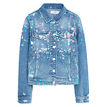 Buy Mango Denim Jacket, Open Blue Online at johnlewis.com