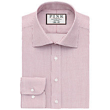 Buy Thomas Pink Kingsford Check Slim Fit Shirt, White/Red Online at johnlewis.com