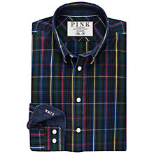 Buy Thomas Pink Jameson Check Slim Fit Shirt, Green Online at johnlewis.com