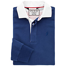 Buy Thomas Pink Carthill Plain Rugby Shirt, Blue Online at johnlewis.com