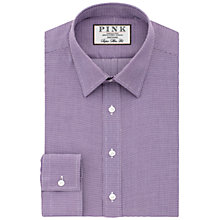 Buy Thomas Pink Hartley Textured Super Slim Fit Shirt, Purple/White Online at johnlewis.com