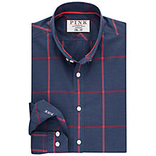 Buy Thomas Pink Hollywell Slim Fit Check Shirt, Navy/Red Online at johnlewis.com