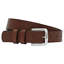 Buy Reiss Hue Slim Leather Belt Online at johnlewis.com
