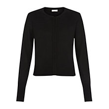 Buy Hobbs Wool Bonnie Cardigan, Black Online at johnlewis.com
