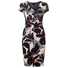 Buy Phase Eight Gillia Ruched Dress, Aubergine Online at johnlewis.com