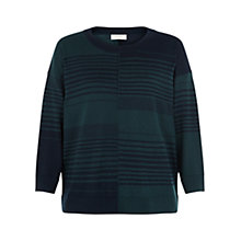 Buy Hobbs Alice Striped Jumper, Navy/Green Online at johnlewis.com