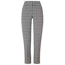 Buy Phase Eight Erica Oval Jacquard Trousers, Navy/Ivory Online at johnlewis.com