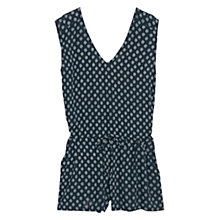 Buy Mango Short Printed Jumpsuit, Navy Online at johnlewis.com