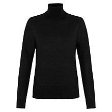 Buy Hobbs Lara Roll Neck, Black Online at johnlewis.com
