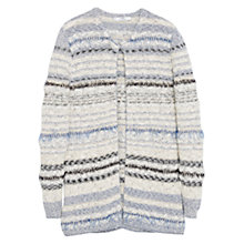 Buy Mango Metallic Finish Cardigan, Light Beige Online at johnlewis.com