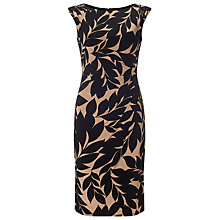 Buy Phase Eight Leaf Print Dress, Black/Camel Online at johnlewis.com
