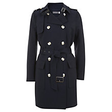 Buy Mint Velvet Formal Trench Coat, Navy Online at johnlewis.com