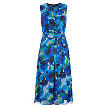 Buy Hobbs Liberton Dress, Blue Online at johnlewis.com