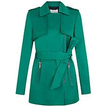 Buy Hobbs Shelley Trench Coat, Lagoon Green Online at johnlewis.com