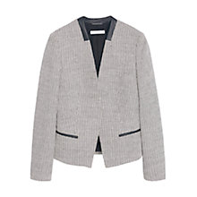 Buy Mango Jacquard Blazer, Natural White Online at johnlewis.com
