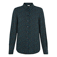 Buy Hobbs Mini Square Print Shirt, Navy Online at johnlewis.com