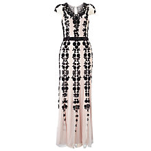 Buy Phase Eight Collection 8 Francine Embellish Dress, Pink/Black Online at johnlewis.com