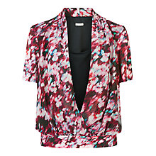 Buy Planet Printed Wrap Front Blouse, Multi Pink Online at johnlewis.com