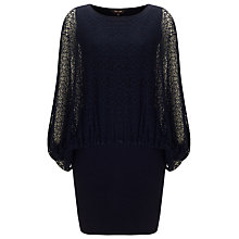 Buy Phase Eight Giselle Blouson Knit Dress, Navy Online at johnlewis.com
