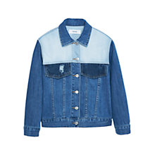 Buy Mango Medium Denim Jacket, Open Blue Online at johnlewis.com