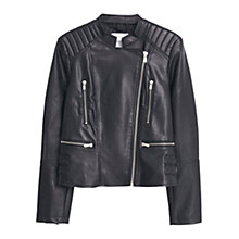 Buy Mango Black Biker Jacket, Black Online at johnlewis.com