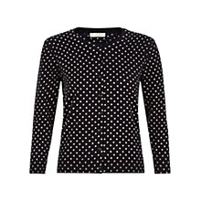 Buy Hobbs Shona Cardigan, Navy/Ivory Online at johnlewis.com