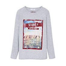 Buy Mango Kids Boys' Sidney Print T-Shirt, Grey Online at johnlewis.com