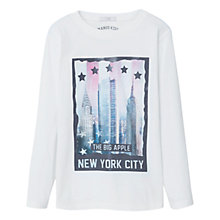 Buy Mango Kids Boys' Printed Image T-Shirt, White Online at johnlewis.com