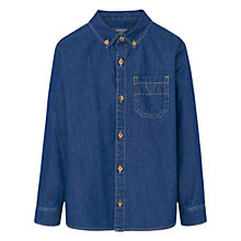 Buy Mango Kids Boys' Denim Pocket Shirt, Blue Online at johnlewis.com
