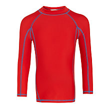 Buy John Lewis Boys' Long Sleeve Rash Vest, Red Online at johnlewis.com