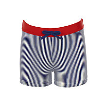 Buy John Lewis Boys' Stripe Swimming Trunks, Blue Online at johnlewis.com